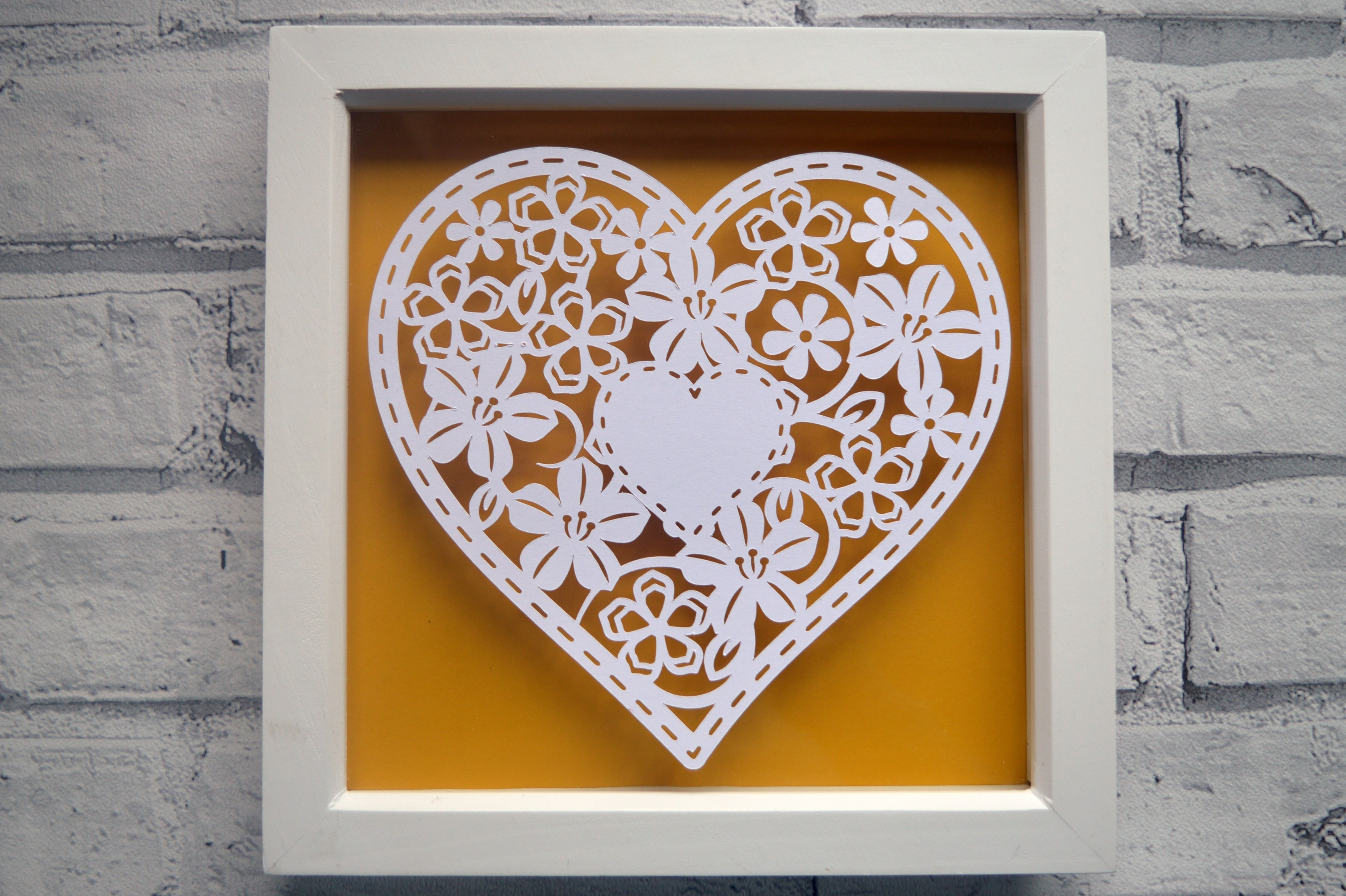 Heart paper cut SVG  DXF  EPS files example image 2