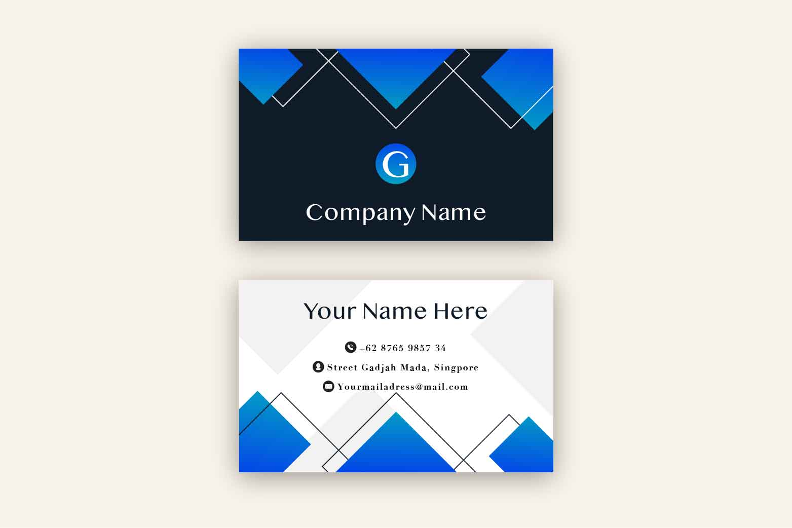 Clean Business Card Template example image 2