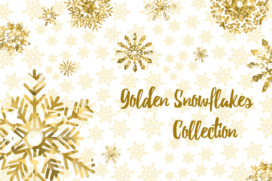 Golden Snowflakes Collection example image 1