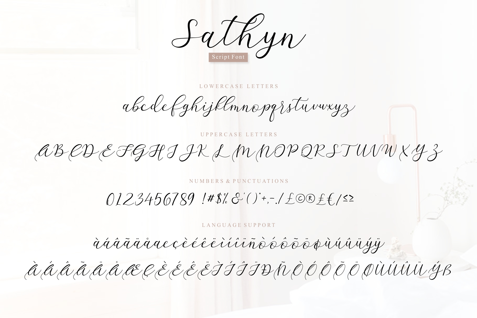 Sathyn Script Font example image 8