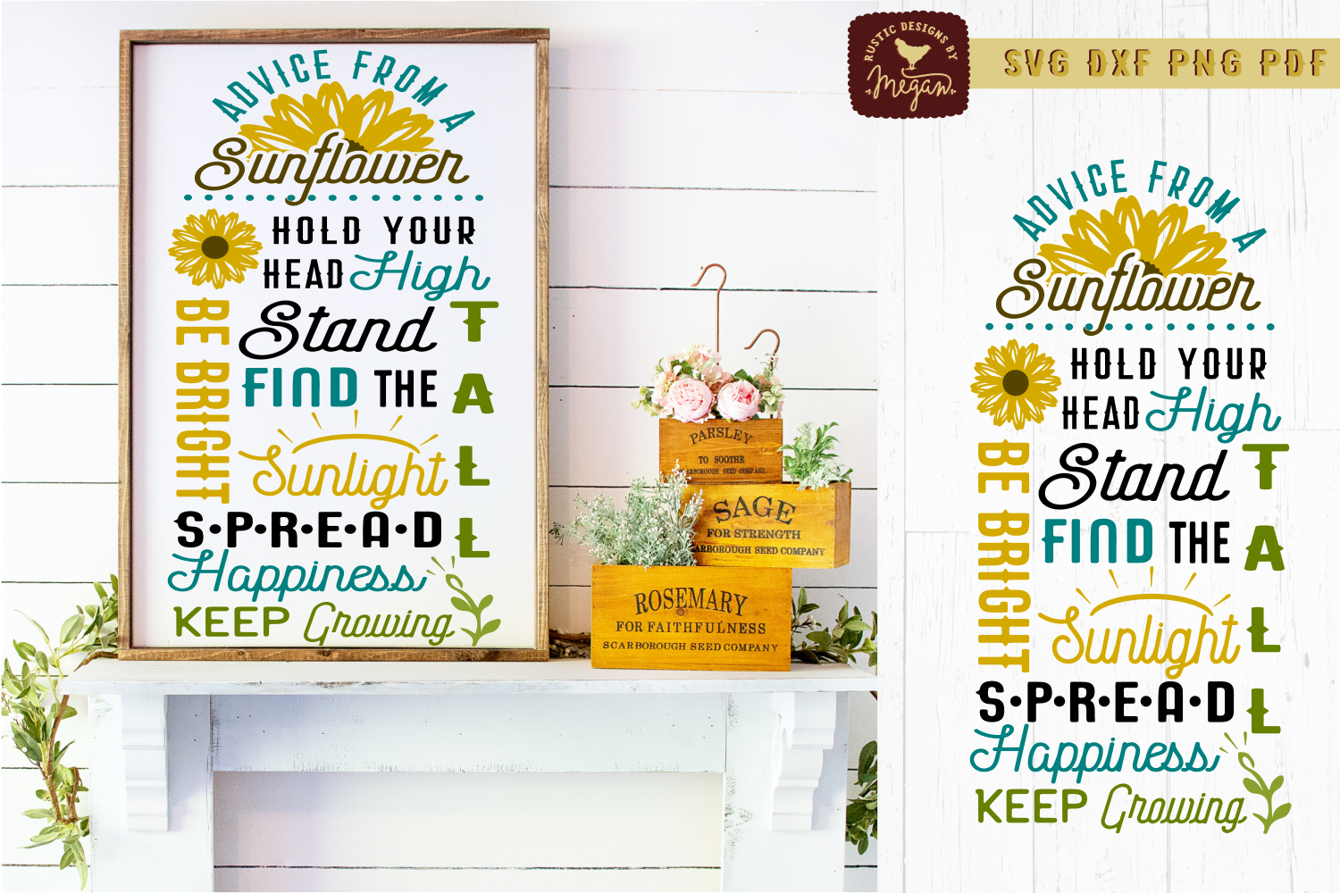 Sunflower SVG Bundle example image 3