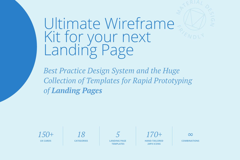 Protogonist 4 Wireframe Kit example image 2
