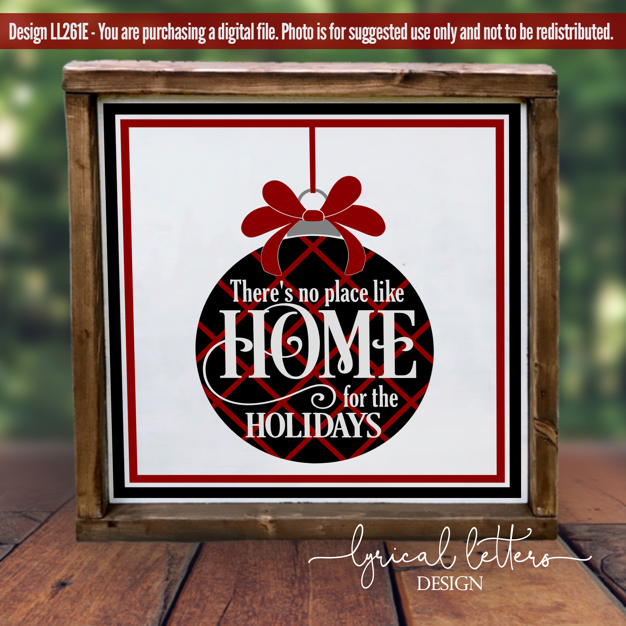 Red and Black Christmas Bundle of 5 SVG DXF Cut Files L example image 9