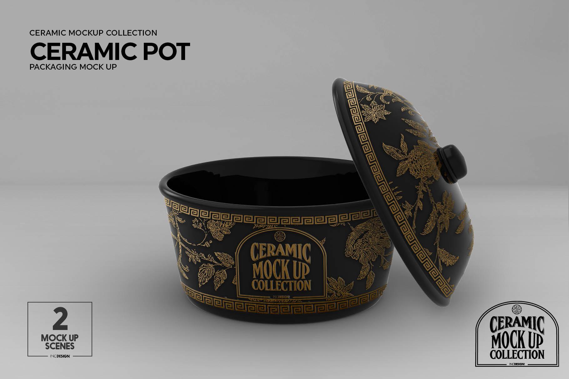 Ceramic Pot Packaging Mock Up example image 4