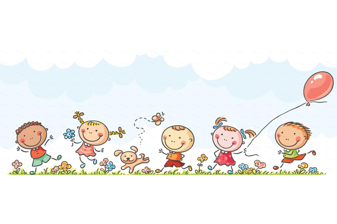 Happy Cartoon Kids Bundle, children doodle, kids doodle example image 18