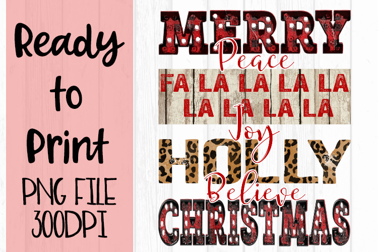 Holiday Word Art Ready to Print example image 1