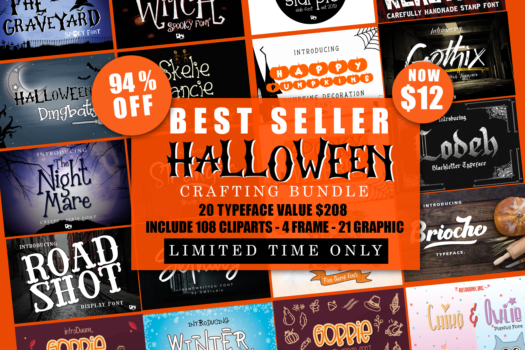 Best SELLER - Halloween Crafting Font BUNDLE example image 1