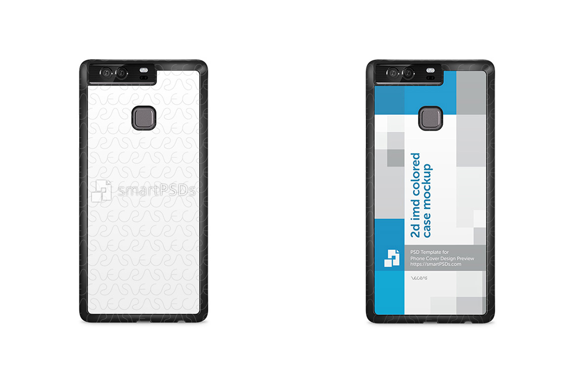 Huawei P9 Plus 2d IMD Colored Mobile Case Design Mockup 2016 example image 2