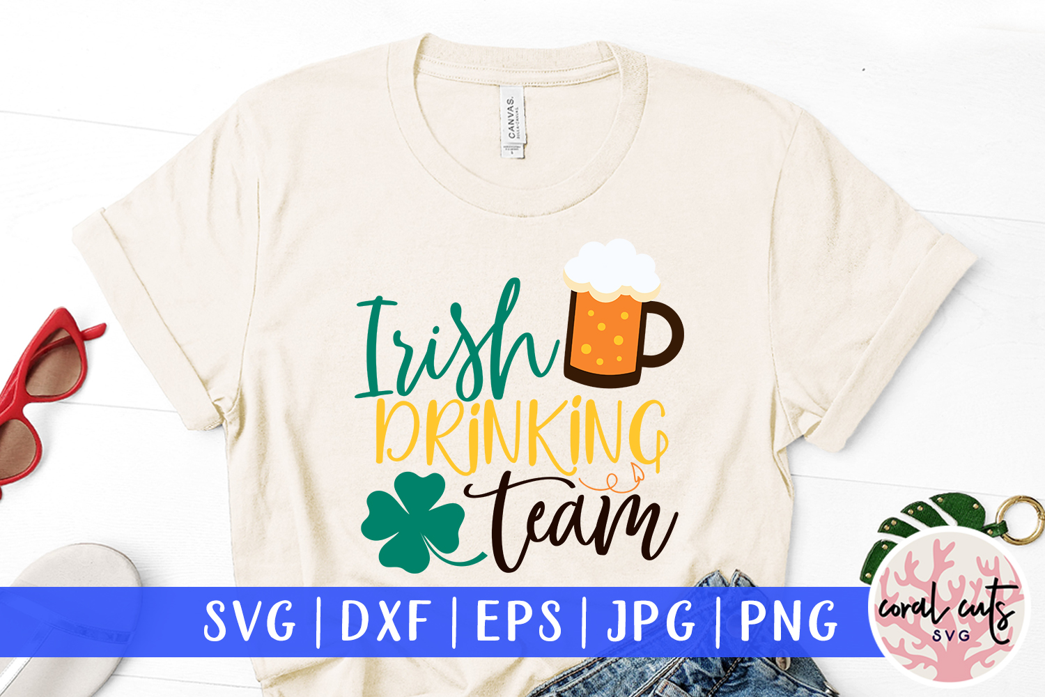 Irish drinking team - St. Patrick's Day SVG EPS DXF PNG example image 1