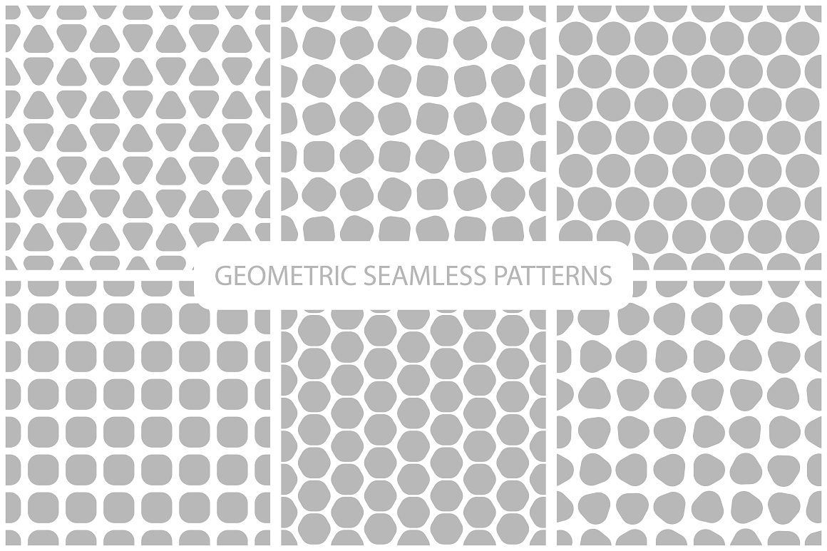 Seamless geometric patterns. 3 colors example image 12