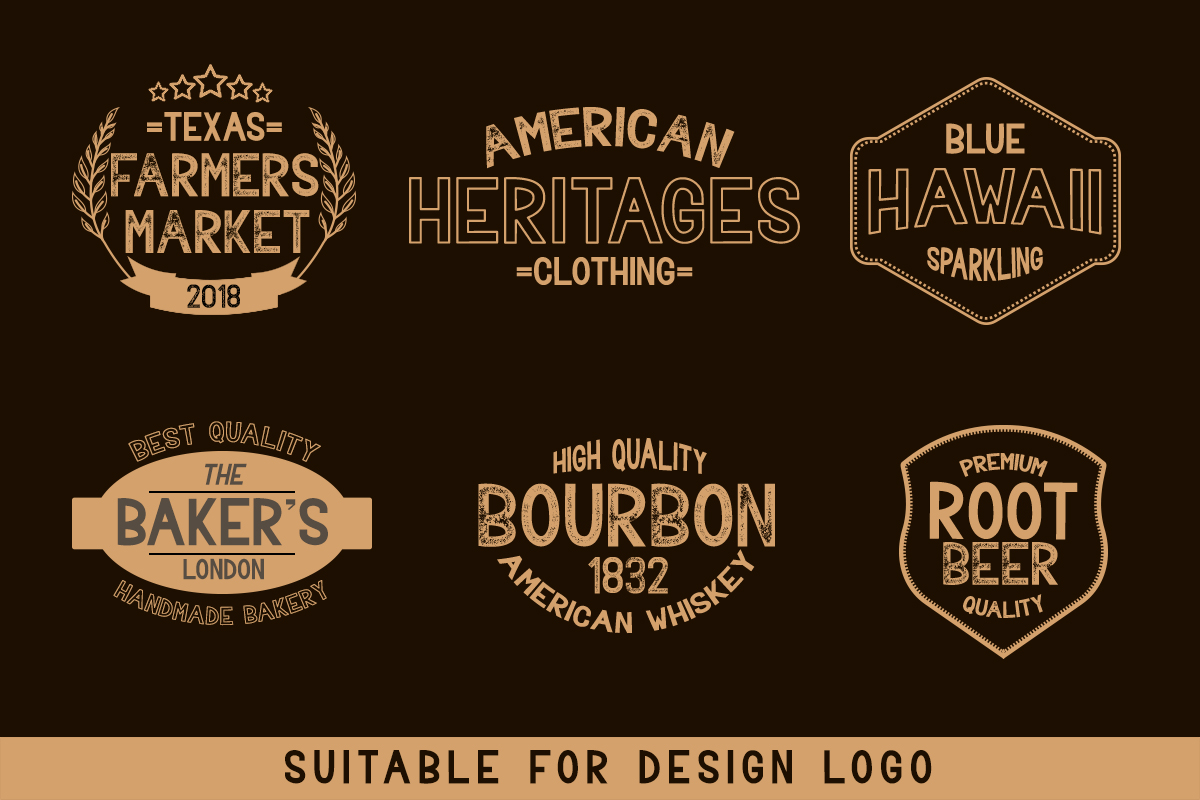 BAVALOR - ALL CAPS FONT FAMILY WITH EXTRAS example image 3