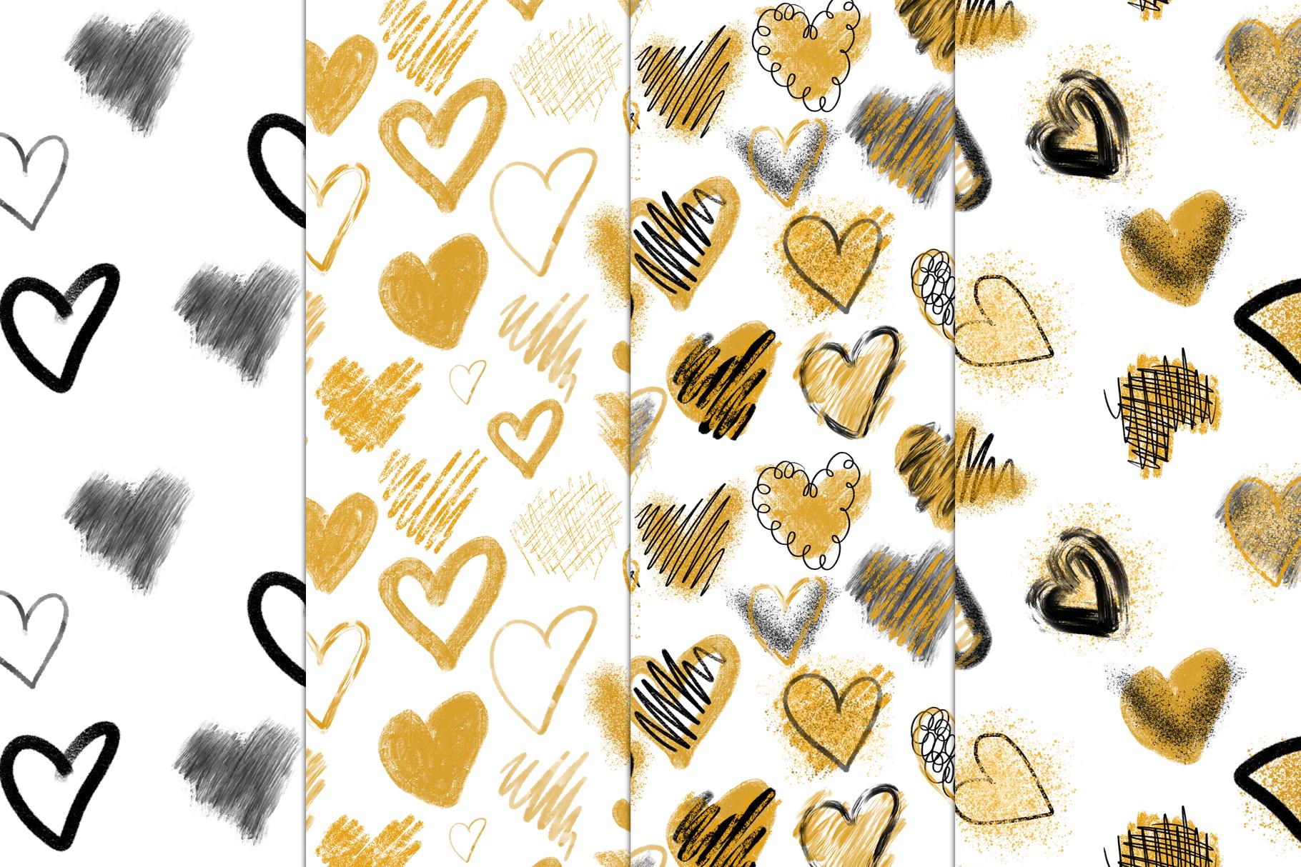 Stylish Hearts. 12 patterns example image 5