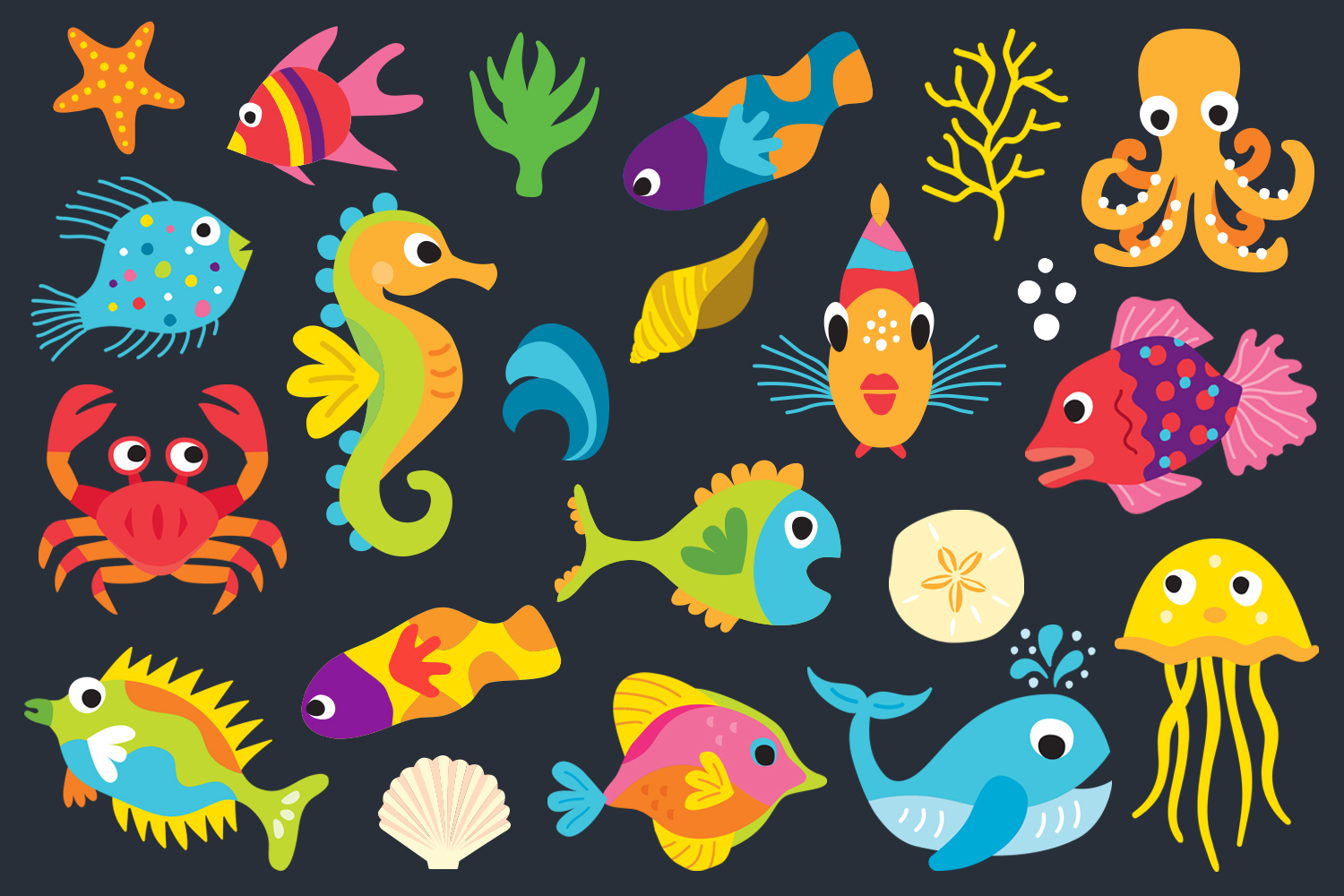 SeaLife Cuties Illustration Collection example image 2