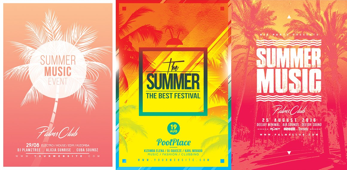 15 SUMMER Flyer Templates Bundle example image 4