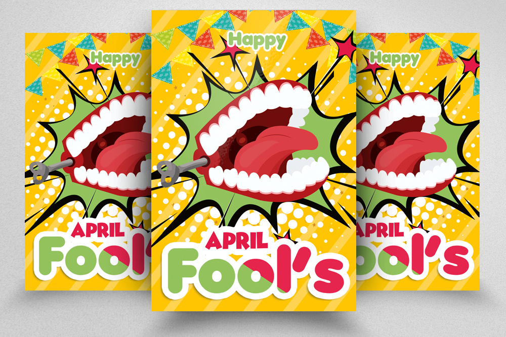4 April Fool's Day Flyers Bundle example image 2
