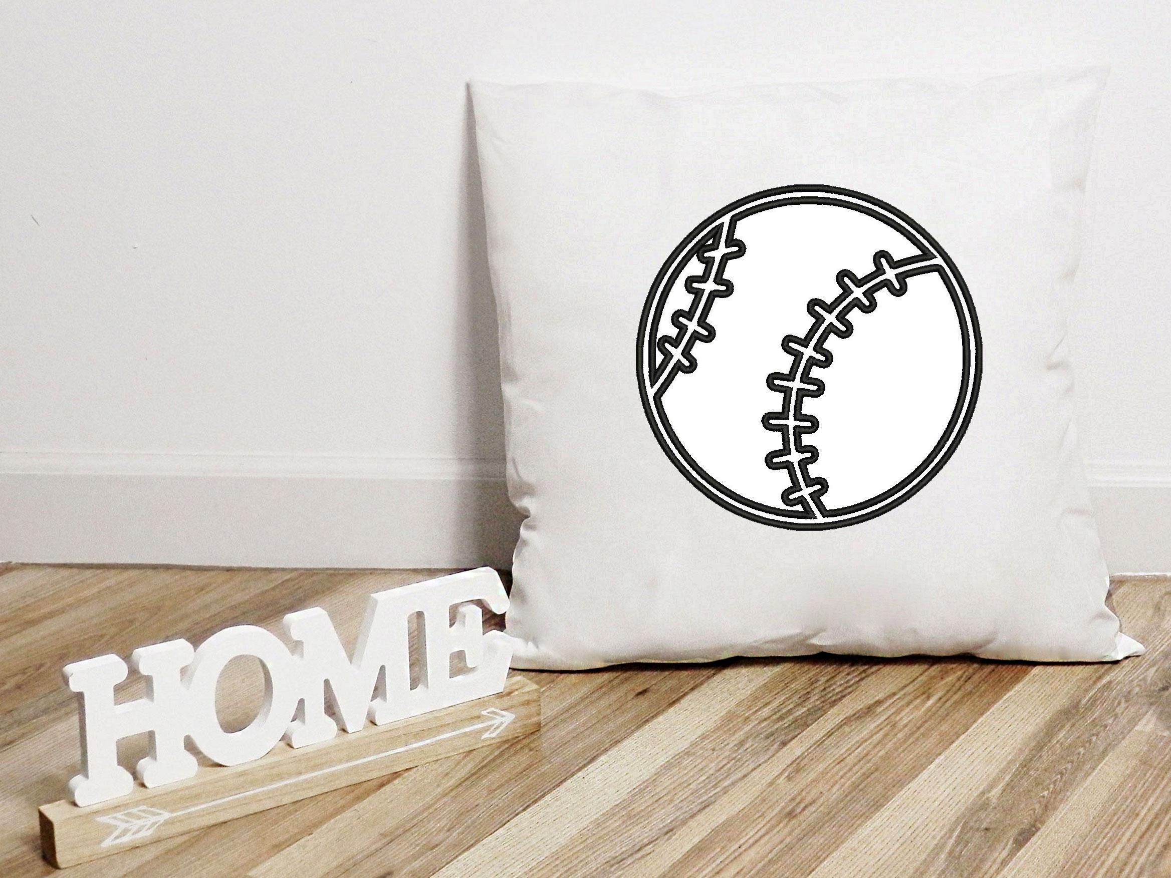 Baseball Applique Design, Sport Embroidery, Ball Applique example image 4