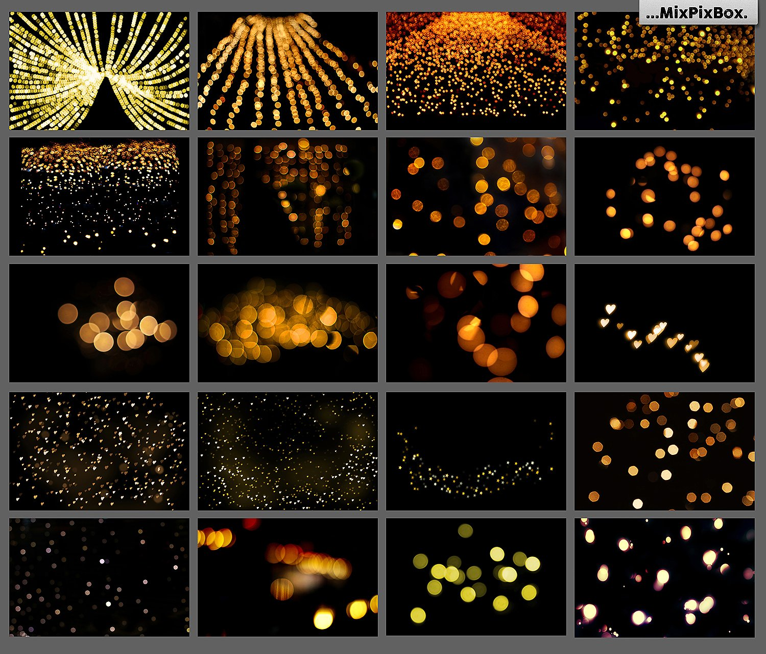 100 Golden Lights Photo Overlays example image 3