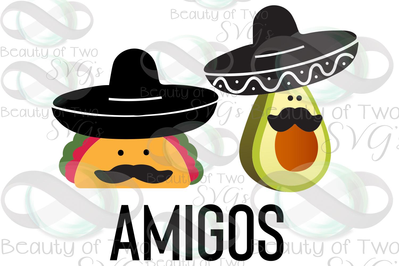 Cinco de Mayo amigos svg & png, avocado svg, taco svg example image 3