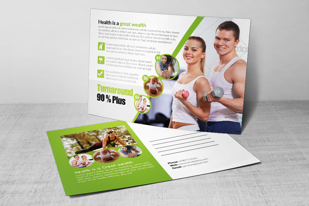 Body Fitness Club Postcard example image 2