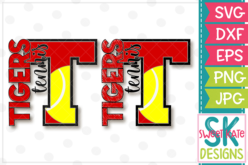 T Tigers Tennis SVG DXF EPS PNG JPG example image 1