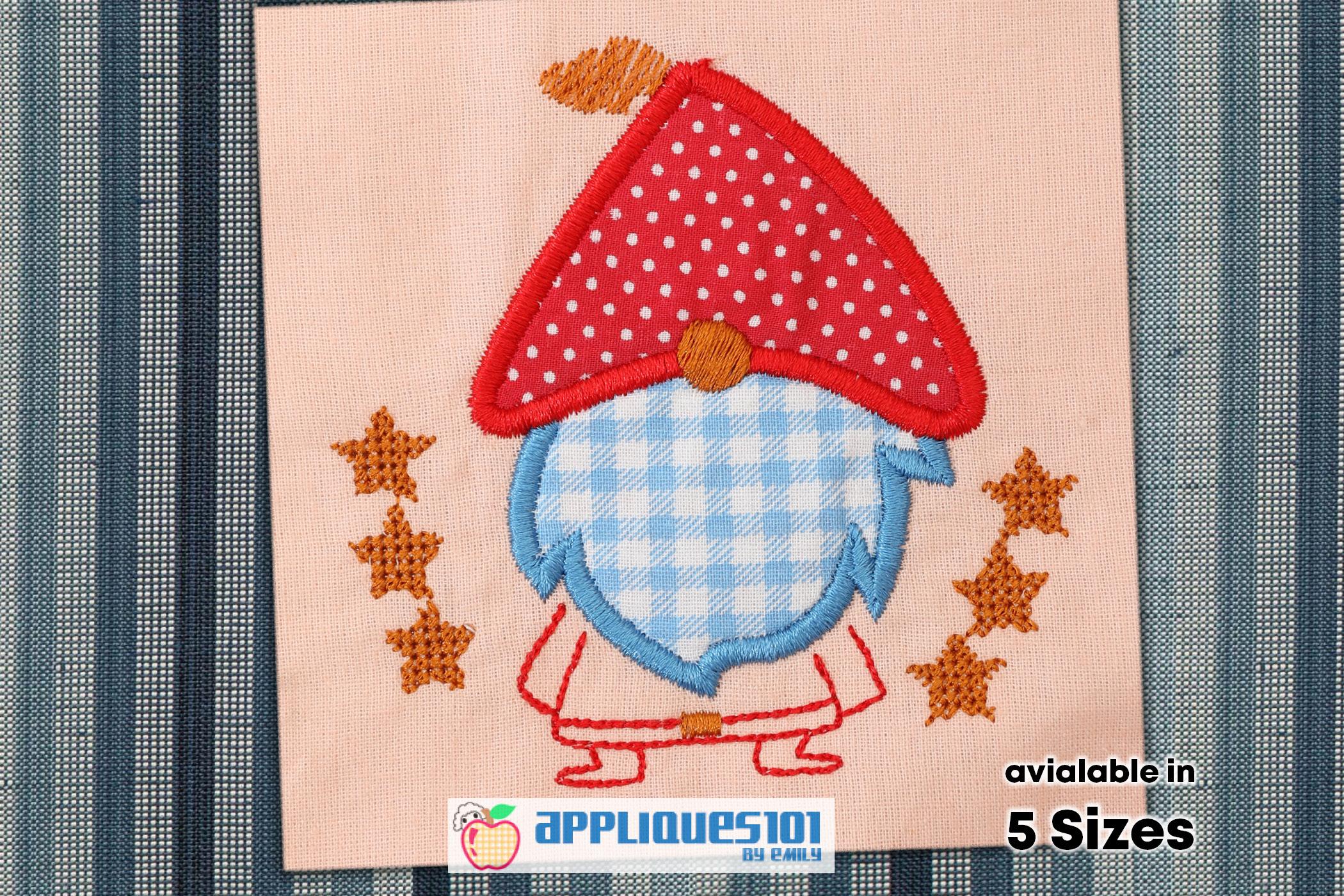 Santa Claus Cartoon Embroidery Applique Design - Christmas example image 1
