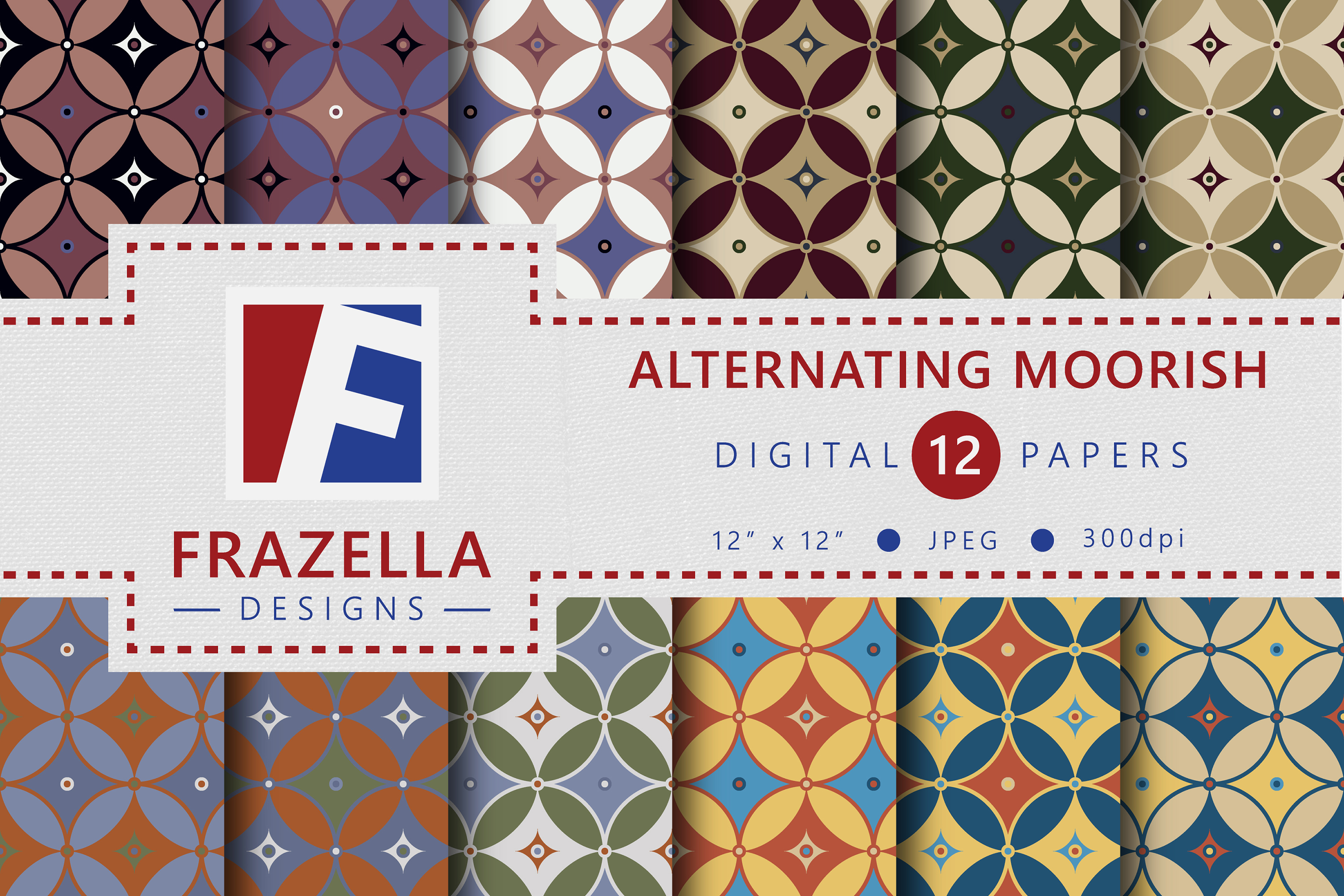 The ULTIMATE Digital Paper Collection Retro Edition Vol. 3. example image 2