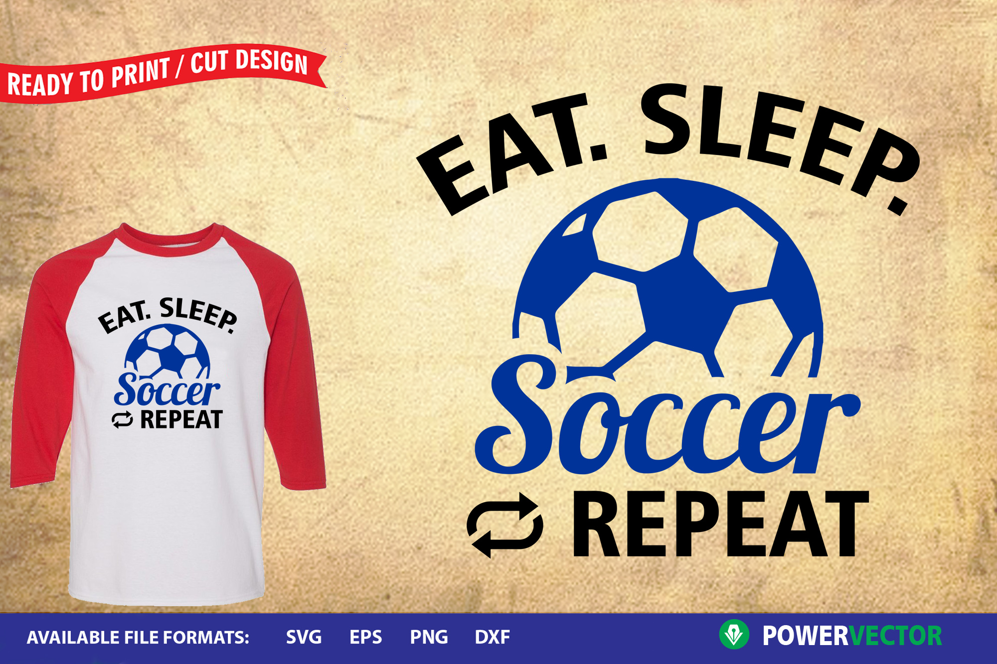 Sports Design SVG Collection | Eat Sleep Play Cut Files example image 5