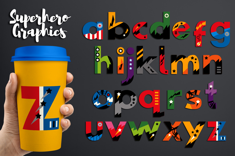 Superhero Alphabet and Punctuation - Graphics Bundle example image 6