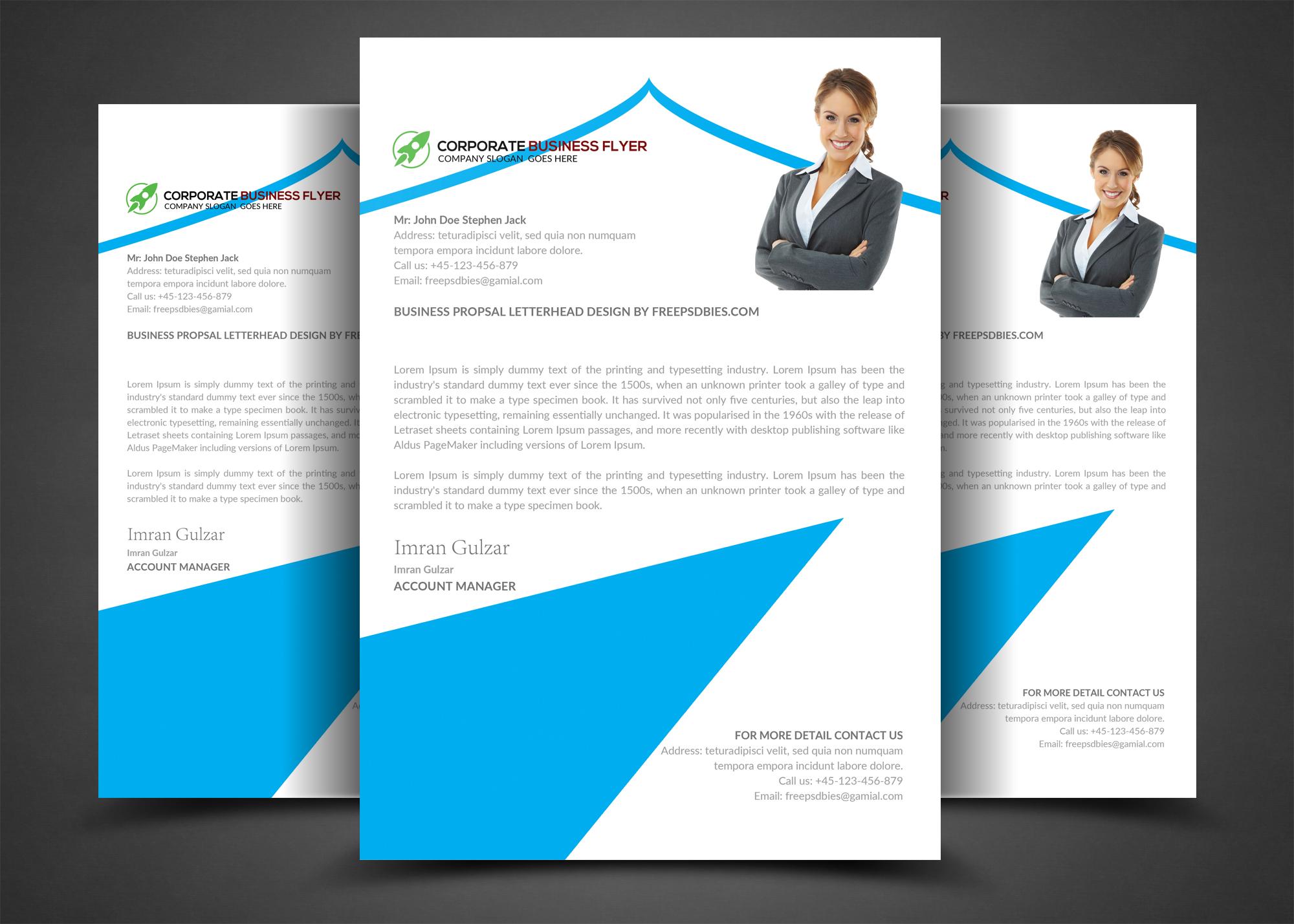 Corporate Business Letterhead example image 1