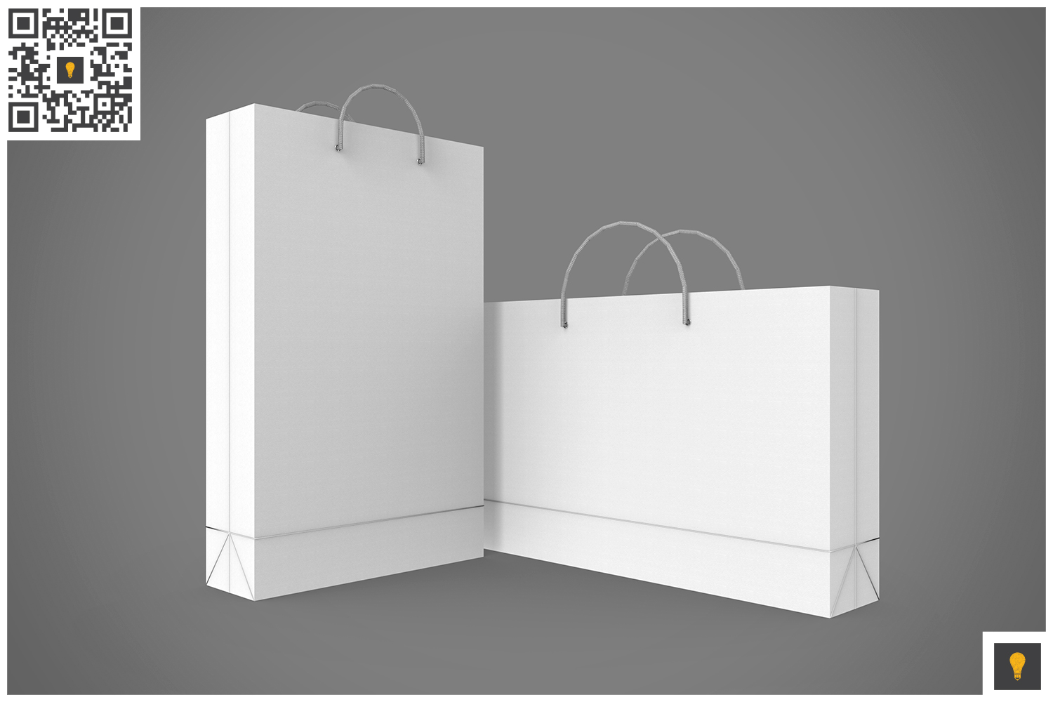 Shopping Bag 3D Render example image 4