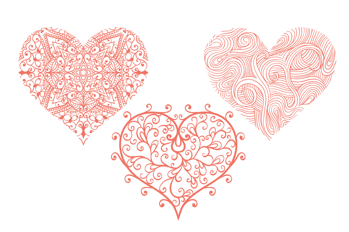 Vector Floral, patterns & hearts example image 8