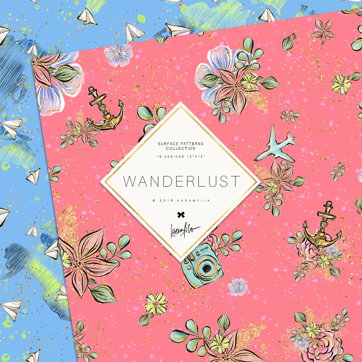 Wanderlust Patterns example image 9