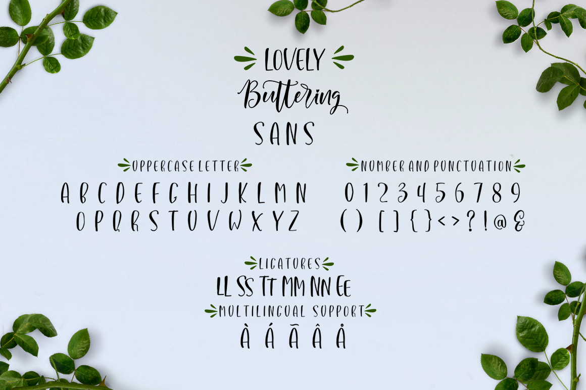 Lovely Buttering Font Duo & Extras example image 9