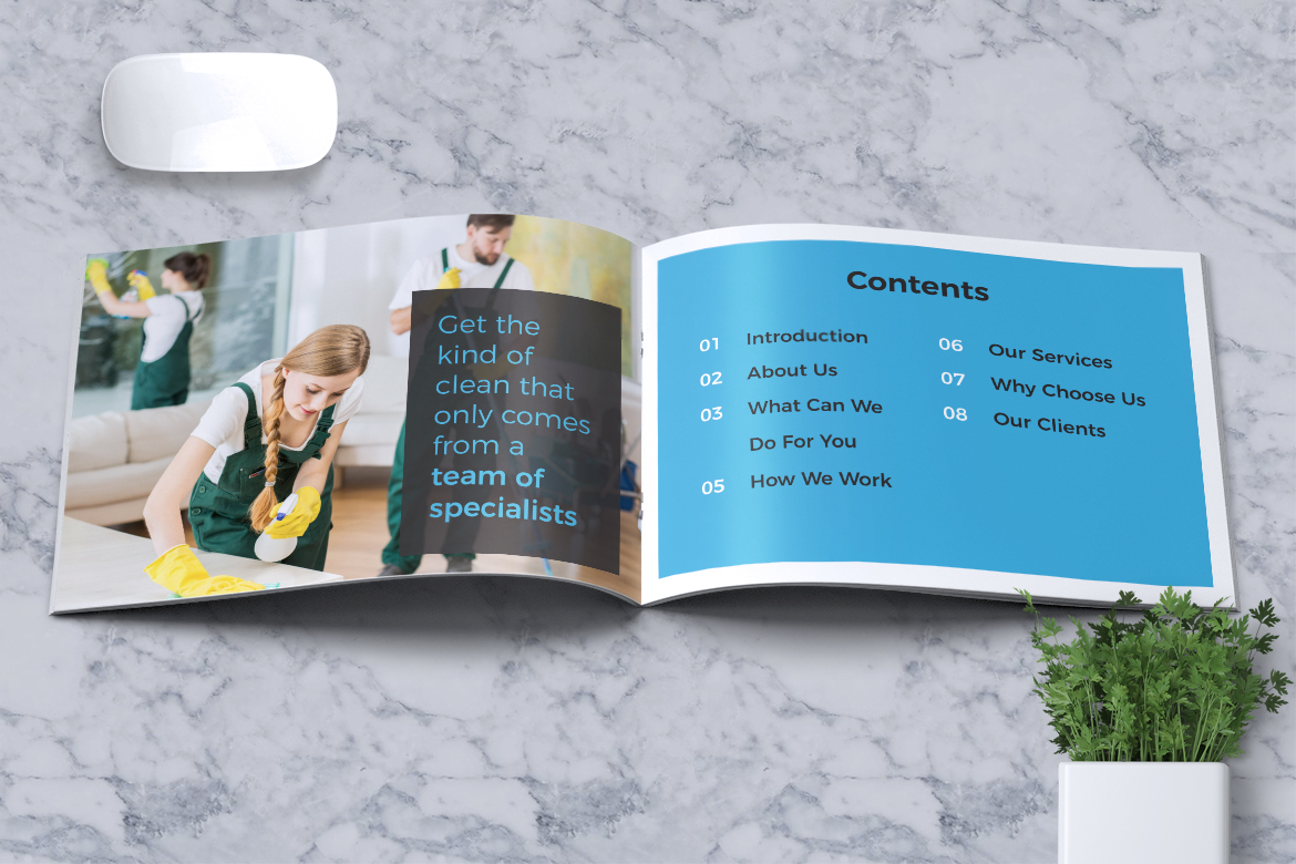 Cleaning Service Company Brochure example image 3