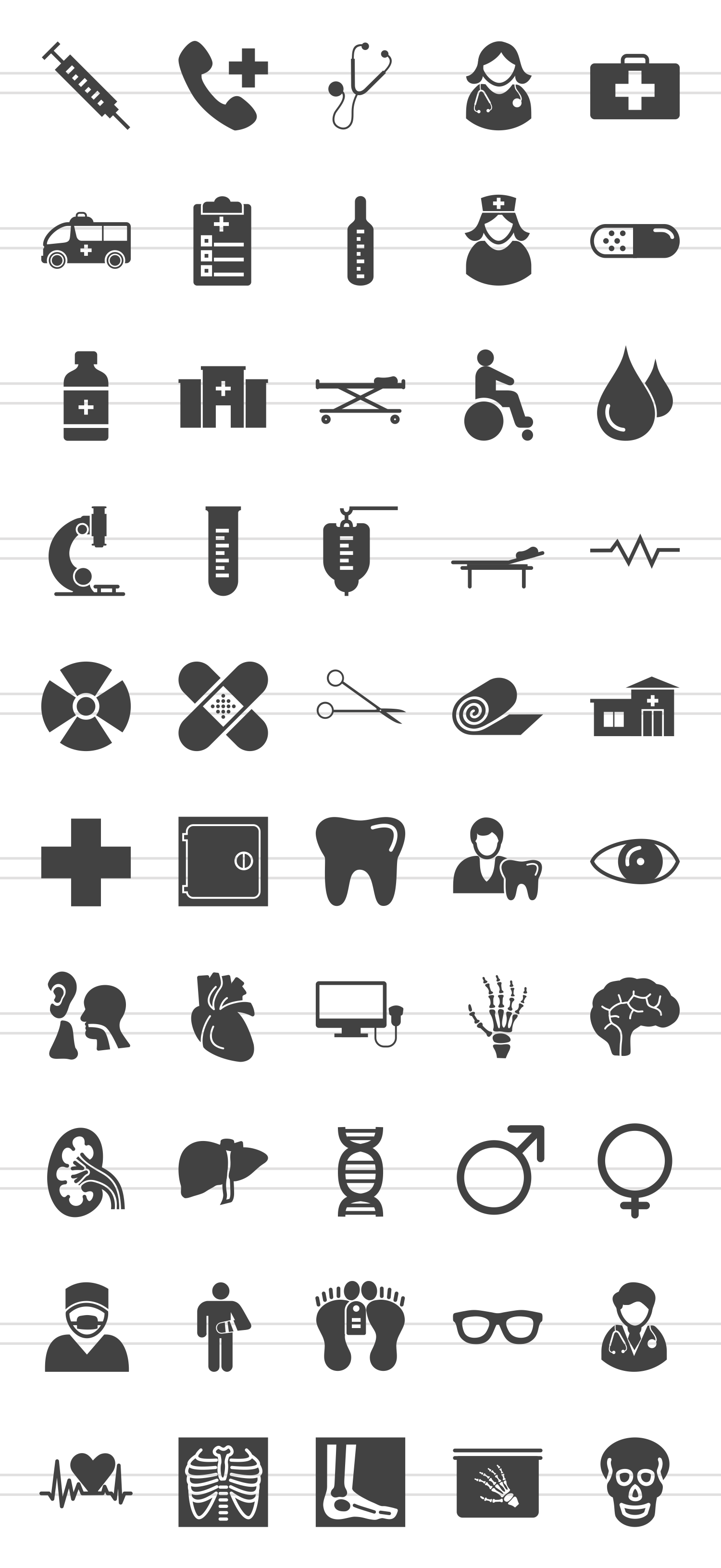 50 Medical Glyph Icons example image 2