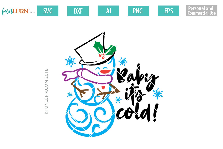 Swirly Snowman Bundle SVG example image 2