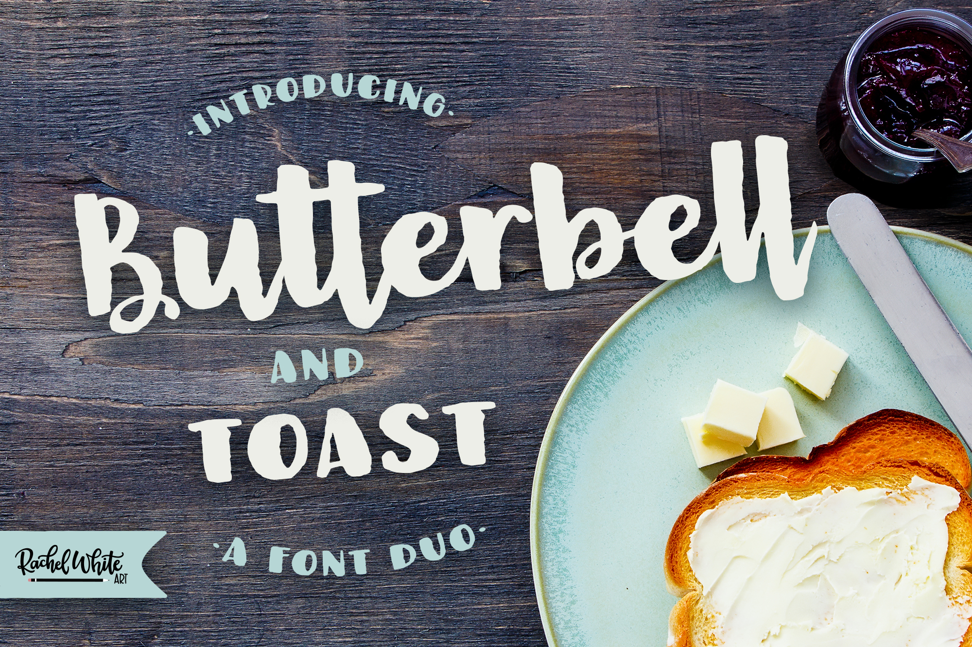 Butterbell & Toast Textured Font Duo example image 1