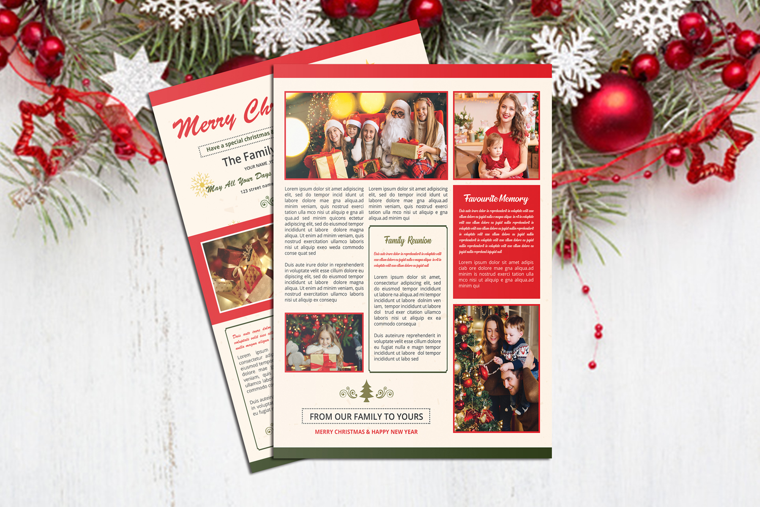 Christmas Newsletter Template example image 2