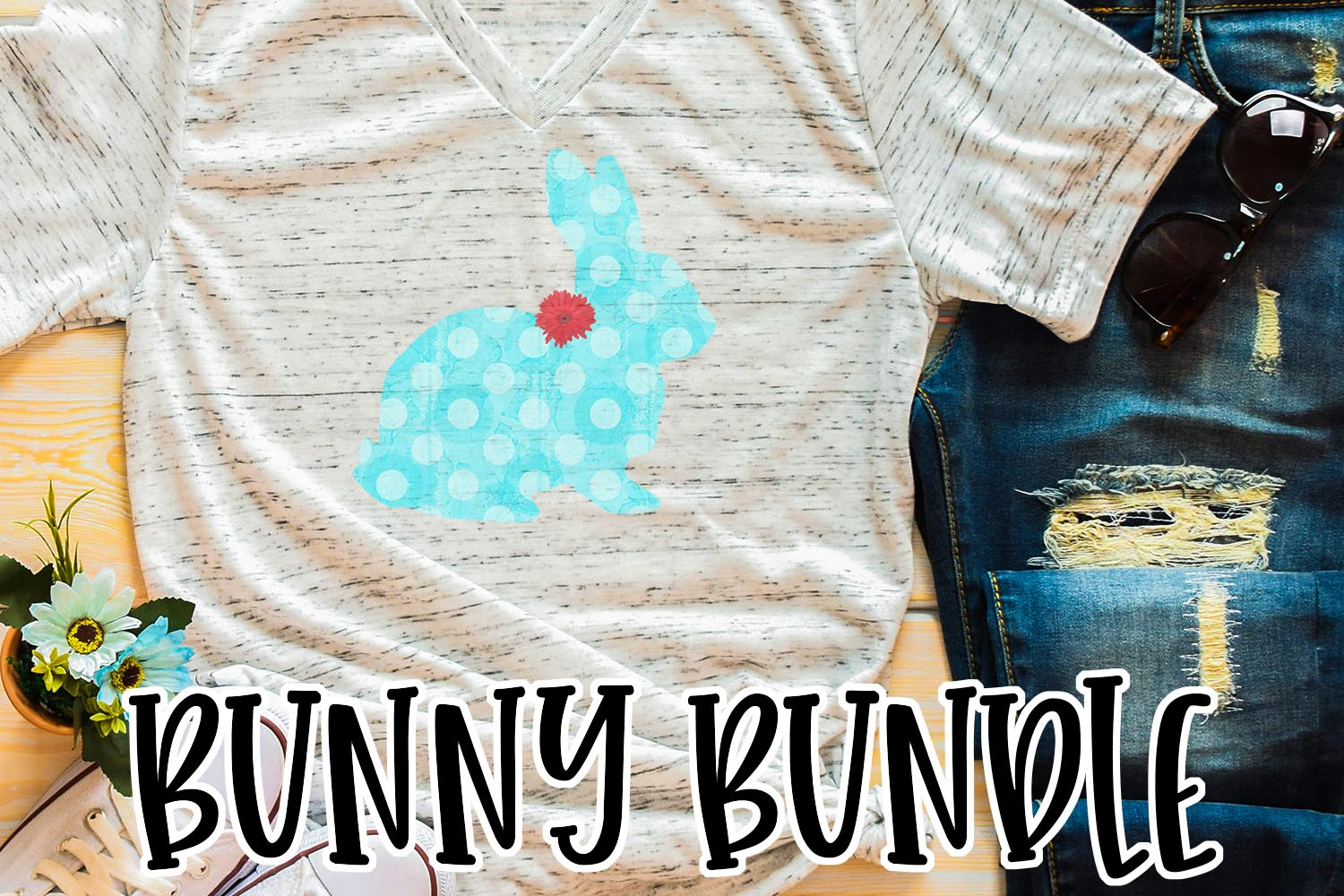 Easter Bunny Sublimation Bundle example image 4