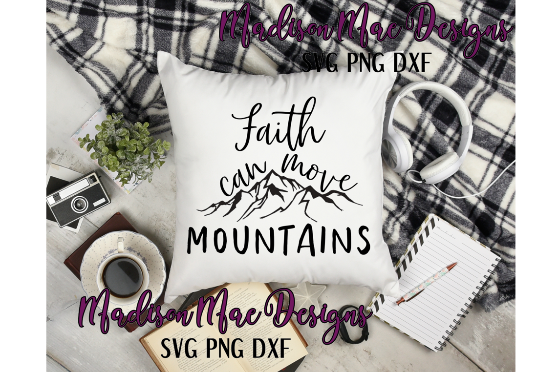 Faith Can Move Mountains  Christian SVG example image 6