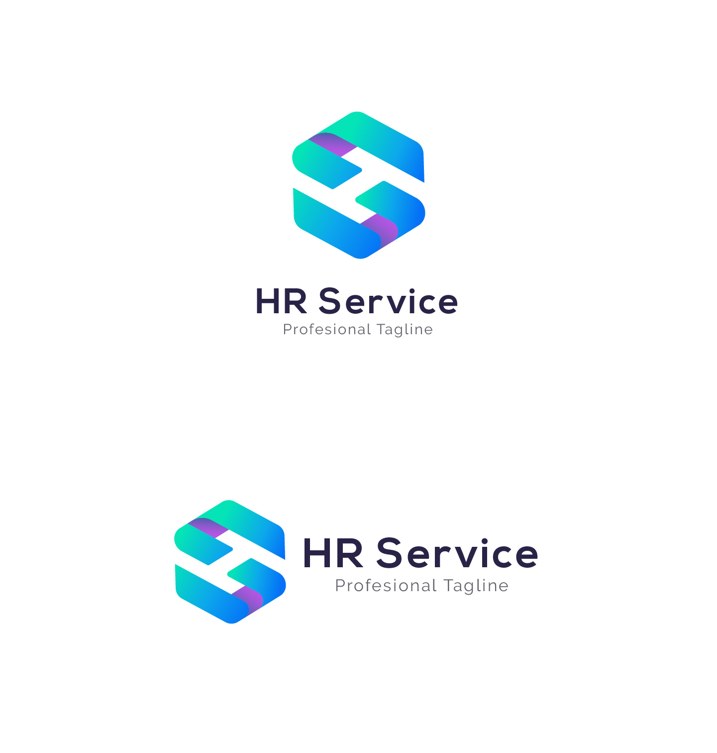 HR Service - H S Letter Logo example image 5