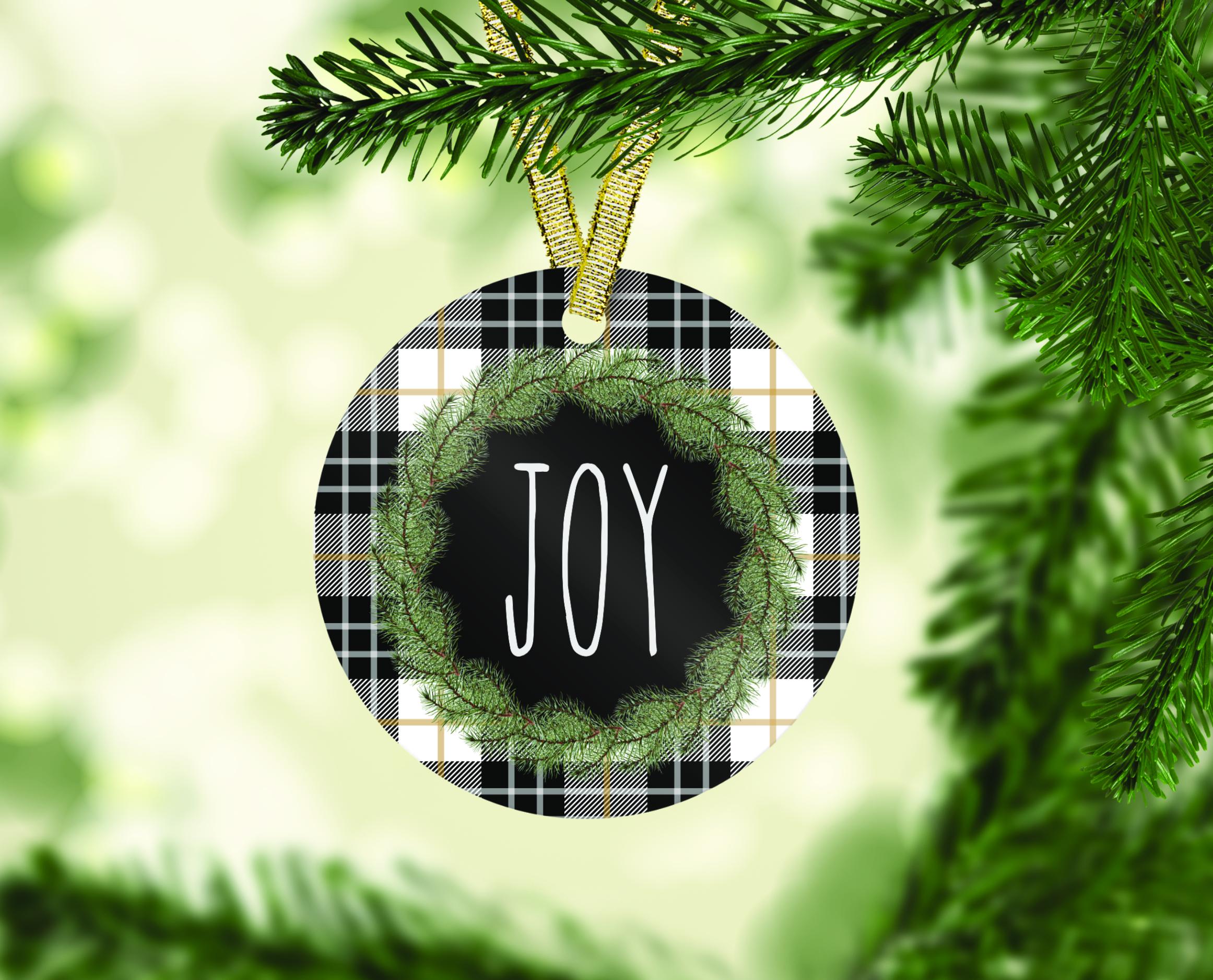 Farmhouse Christmas Ornament Bundle, Perfect for Sublimation example image 6