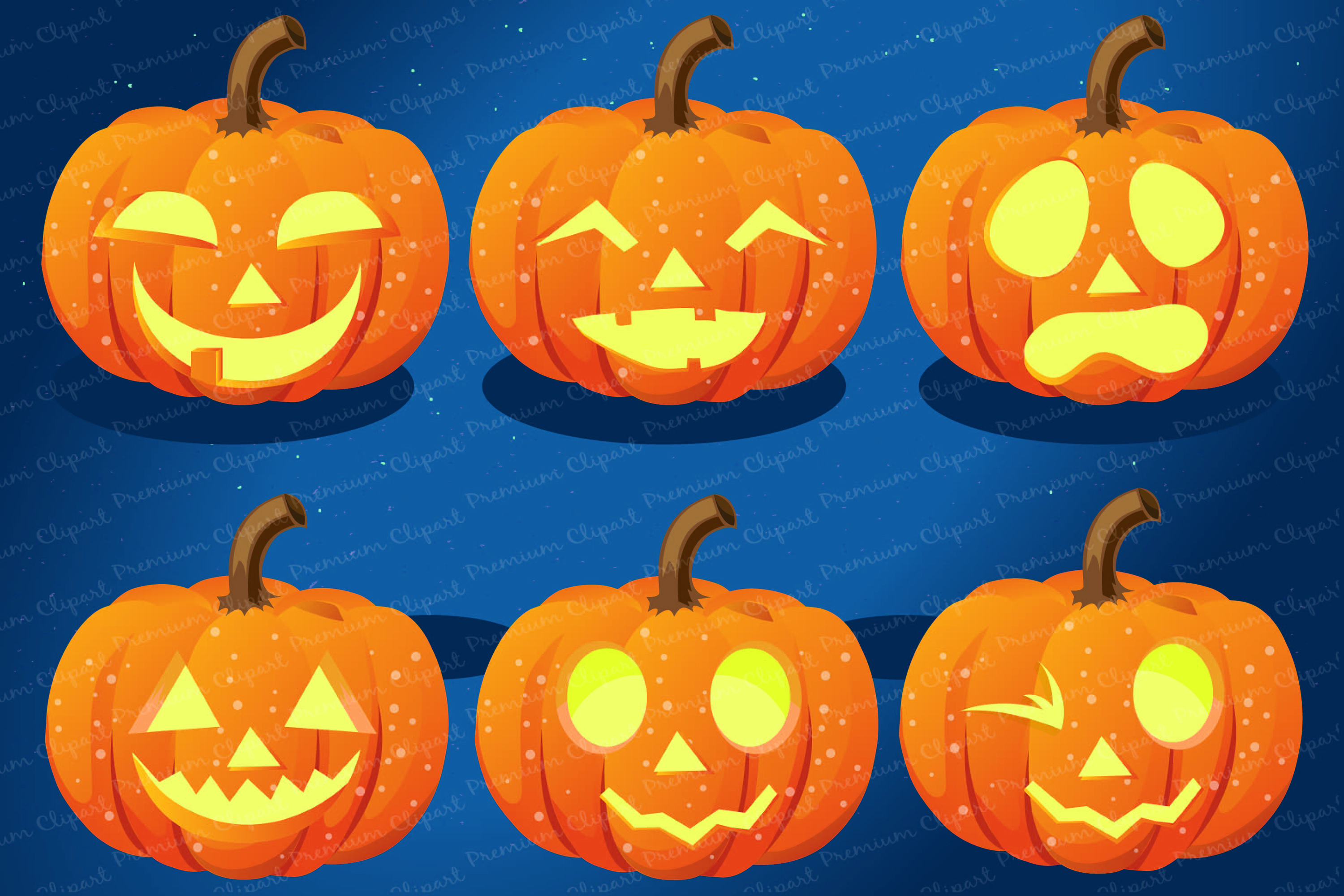 Halloween bundle, Halloween illustrations, Halloween pumpkin example image 7