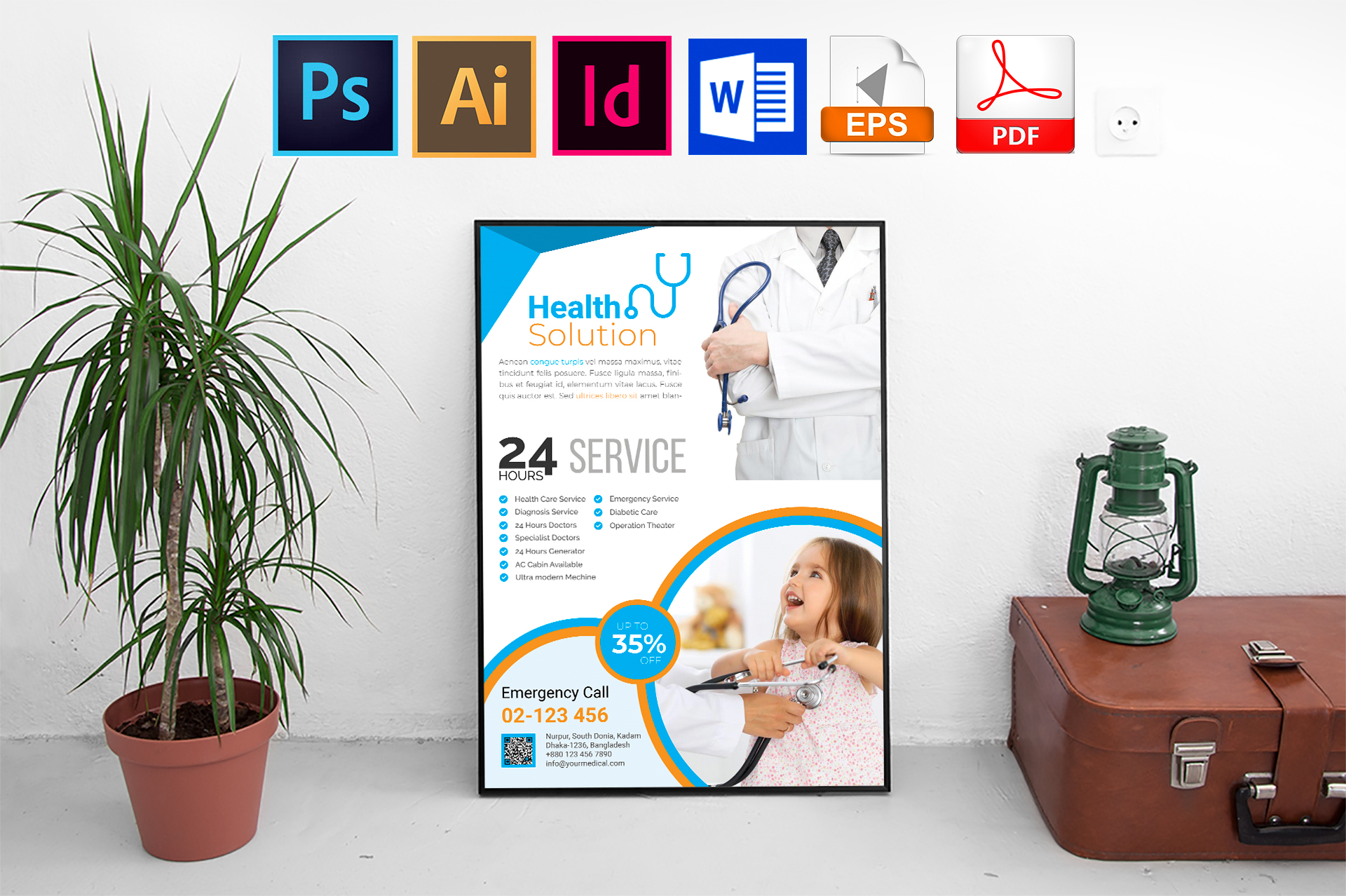 Poster | Doctor & Medical Flyer Vol-03 example image 1