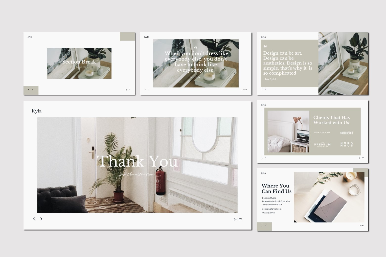 Kyla - Powerpoint Template example image 12