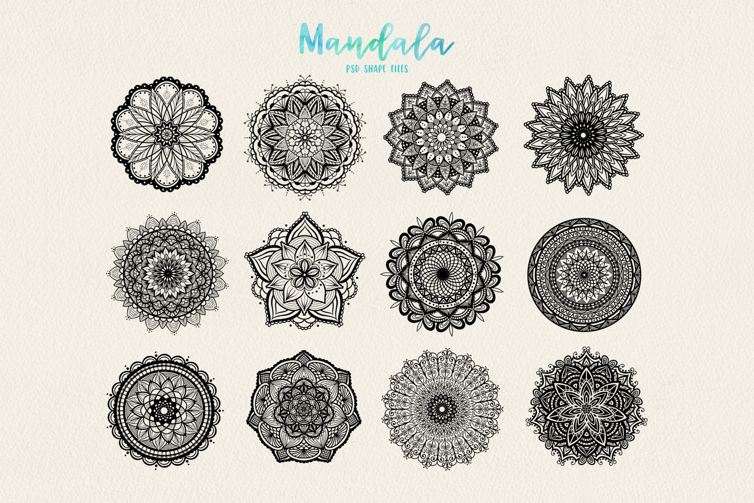 Mandala Vectors & Bonus Watercolor Styles example image 3