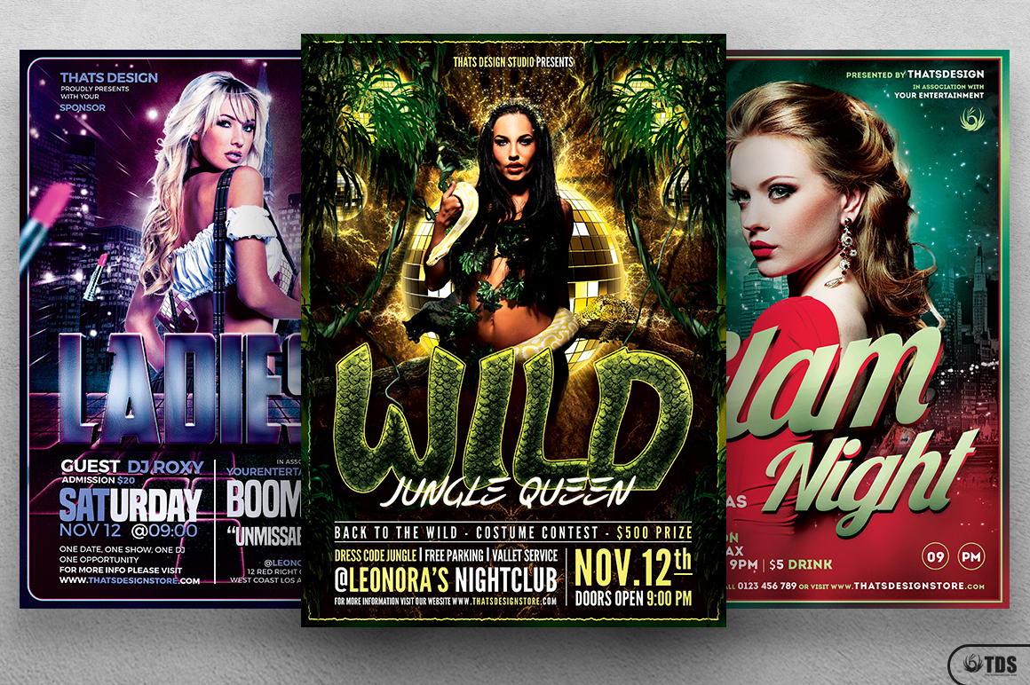 Ladies Night Flyer Bundle V2 example image 2