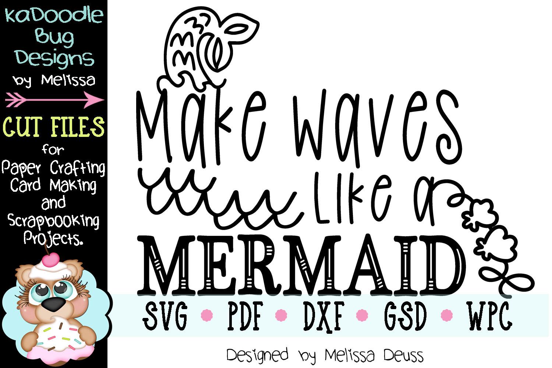 Make Waves Like A Mermaid Cut File - SVG PDF DXF example image 2