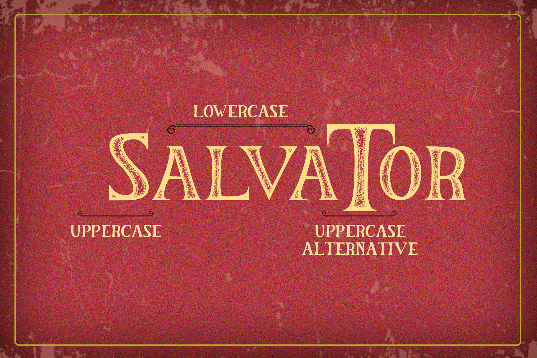 The Salvator - Vintage Font Set example image 3