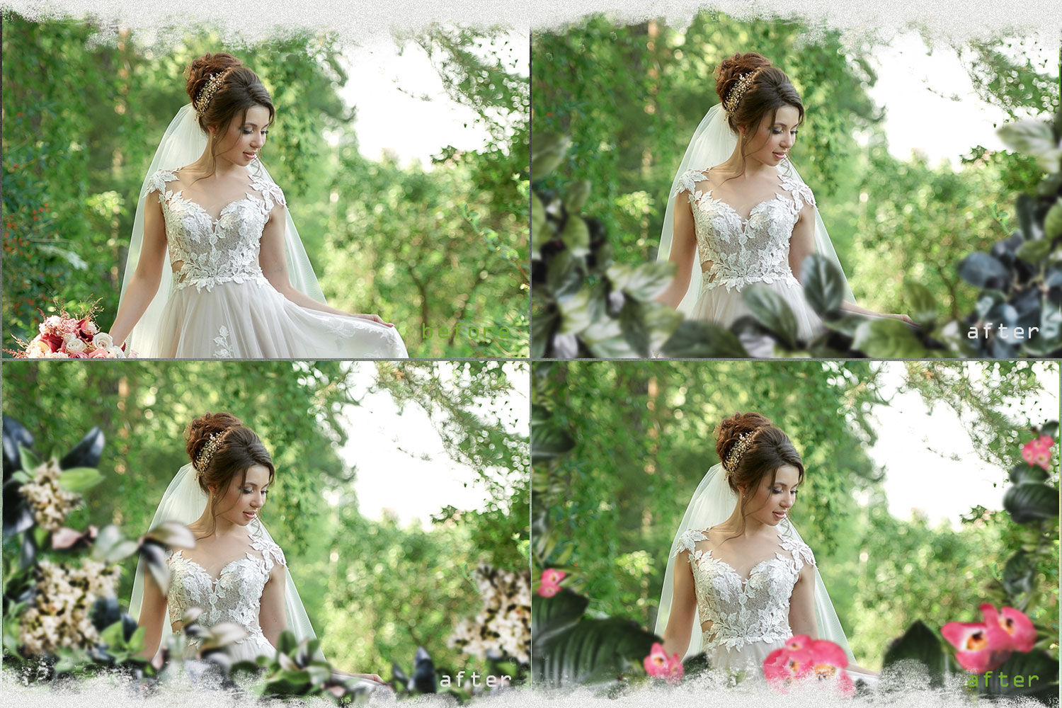 Summer overlays templates frames textures backdrop wedding example image 7